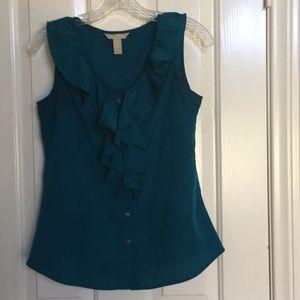 BANANA REPUBLIC turquoise sleeveless blouse
